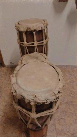 trio de atabaque artesanal