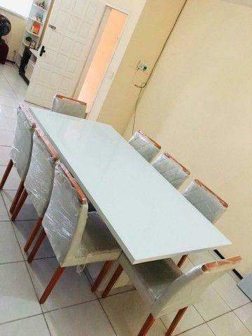 Conjunto LUXUOSOS de mesa e cadeiras diretamente da fábrica ótima QUALIDADE! * - Foto 5