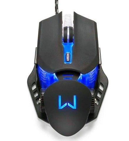Mouse Gamer Warrior Keon 3.200 DPI Preto MO267 Novo