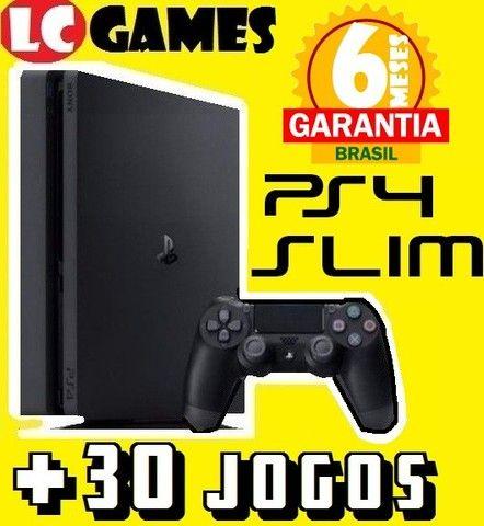 PS4 Slim 1TB ou 500GB +30JOGOs +06Meses Garantia +NF
