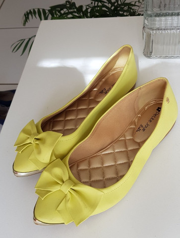 Sapatilha Petit Jolie verde limão - Foto 2