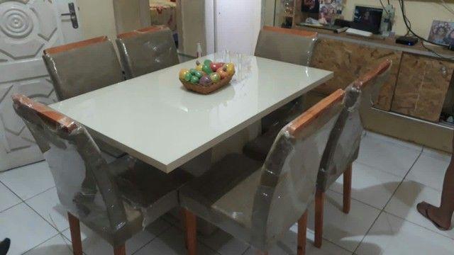 Conjunto LUXUOSOS de mesa e cadeiras diretamente da fábrica ótima QUALIDADE! * - Foto 4