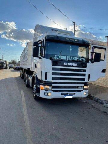 Scania 420 R124 2006 e Carreta Guerra 2001 - Foto 3