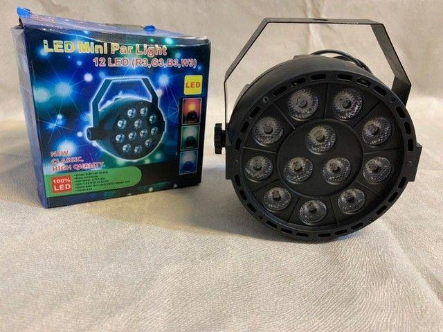 Led mini par light 12 leds ? Entrega grátis  - Foto 4