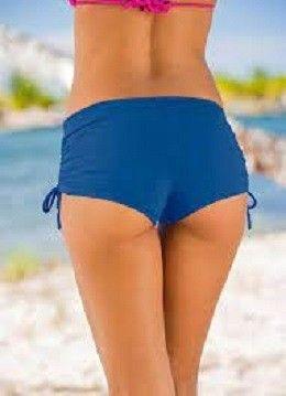 Short praia liso azul - Foto 2