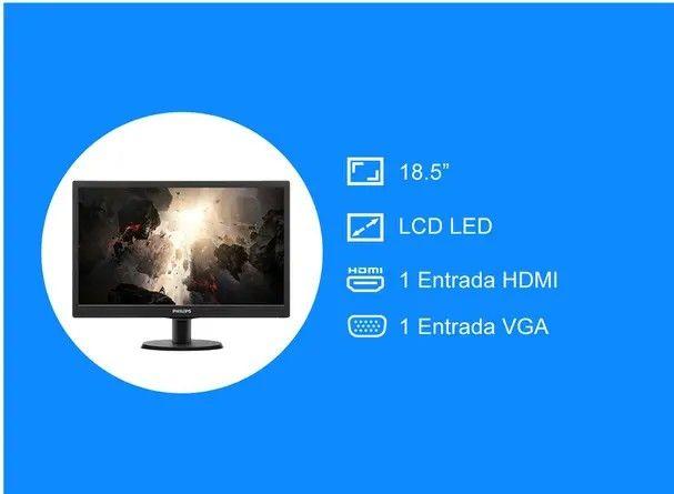 Monitor para PC Philips V Line 193V5Lhsb2 18,5? Led Hd Hdmi Vga - Foto 2
