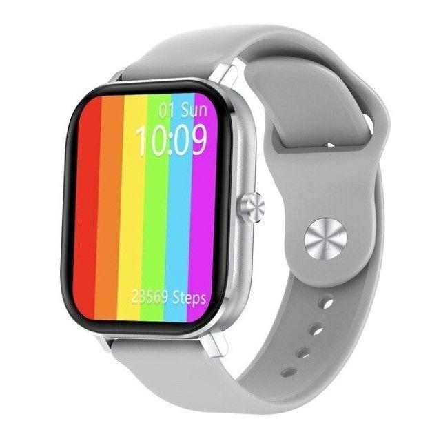 Relógio Smartwatch DT36 Rosa e Cinza - Foto 5