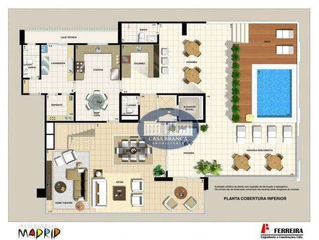 Cobertura Duplex - 4 suítes à venda, 414 m² por R$ 2.100.000 - Vila Santa Maria - Araçatub - Foto 3