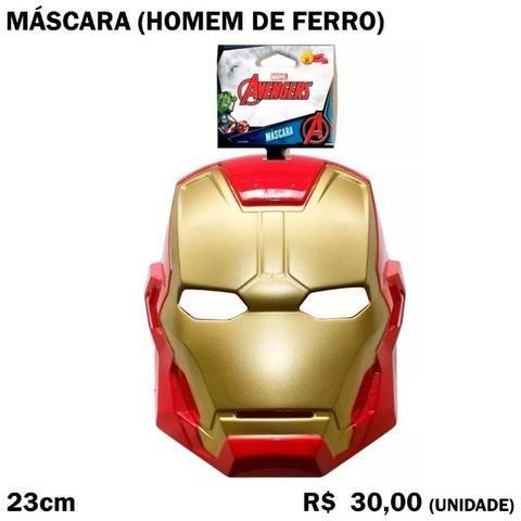 Máscara Homem de Ferro Adulto Plástico Resistente