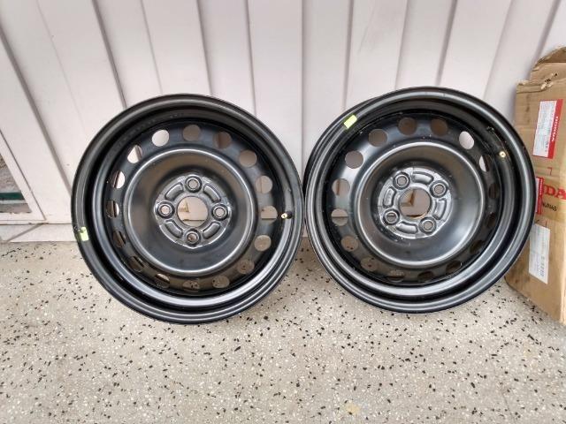 Rodas de ferro 15 furação 4 x 100 Honda City originais