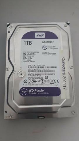 HD Western Digital 1TB purple - Usado