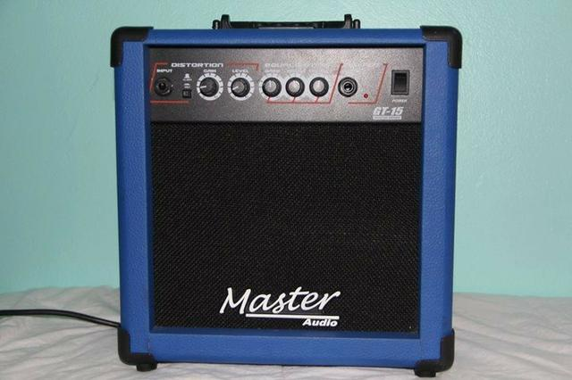 Amplificador Cubo Guitarra Master Gt15 15w Distorção - Azul