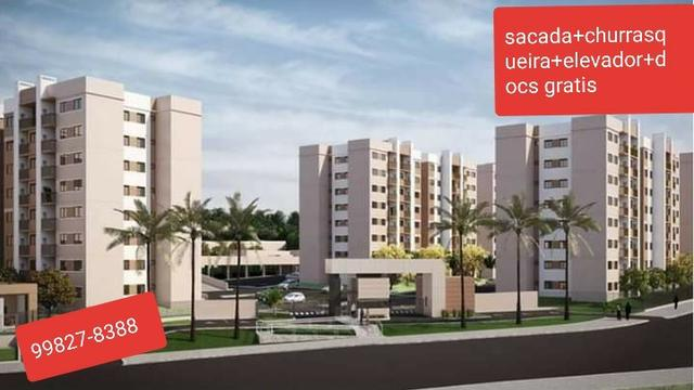 Apartamentos a 5 min do shopping são josé sacada com churrasqueira docs inclusos