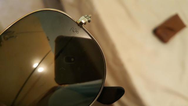 Óculos Ray-Ban aviator feminino original, com estojo. - Foto 2