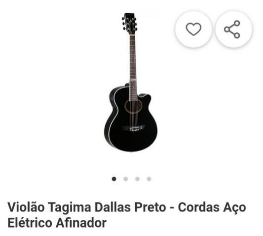 Violão Tagima Dallas Preta - Foto 5