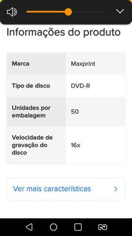 DVD-R Maxprint 4.7 gb 120 min 1x-16x 50 unidades 120 min 4.7gb 1x-16x - Foto 3