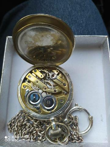 Relógio de bolso em prata original - Foto 4