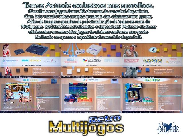 Arcade Fliperama Multijogos Retro 2 Players Tema: Super Mario World Com 7050 Jogos - Foto 4