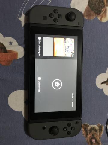 Nintendo switch desbloqueado atimosphere seminovo - Foto 6