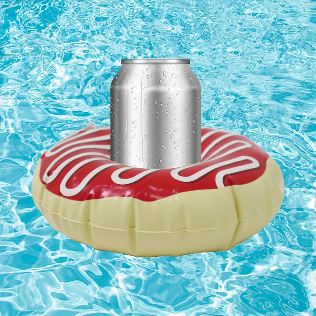 Boia Porta Copos Inflável Donuts