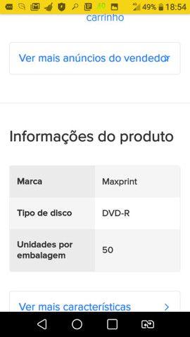 DVD-R Maxprint 4.7 gb 120 min 1x-16x 50 unidades 120 min 4.7gb 1x-16x - Foto 2