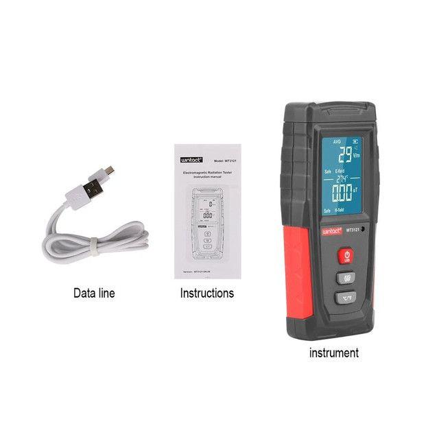 Detector de Radiação Portátil e Recarregável, Medidor do Campo Eletromagnético Emf - Foto 2