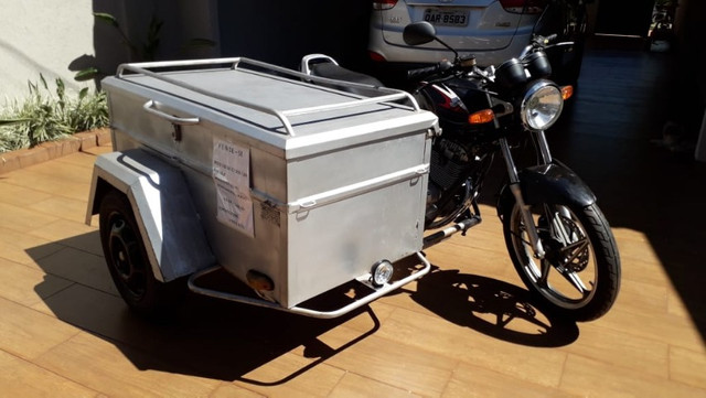 Moto Yes 125 2008 com sidecar carretinha baú capacidade 300L - Foto 4