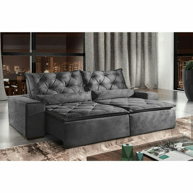 !!!Sofá retrátil e reclinável alto padrão Infiniti