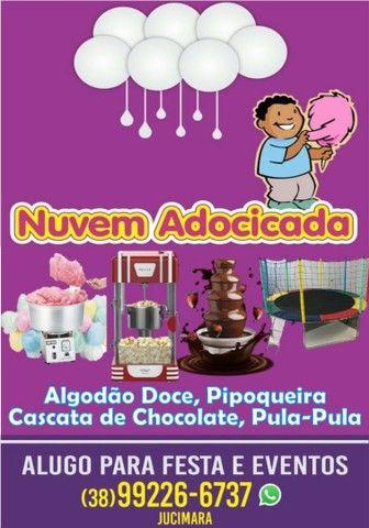 Alugo máquina de algodão doce, pipoqueira e cascata de chocolate