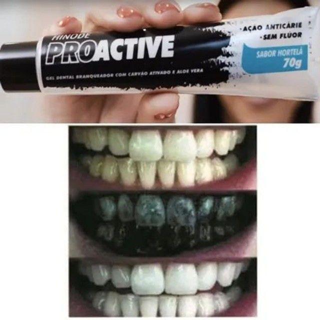 Clareador Dental Carvão Ativado Pasta De Dente Gel Dental<br><br> - Foto 3