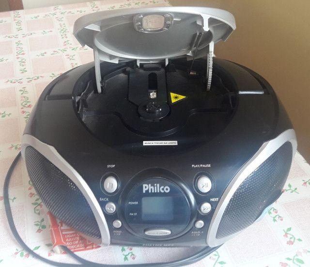 Vendo rádio portátil com CD Philco - Foto 2