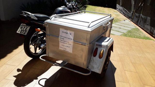Moto Yes 125 2008 com sidecar carretinha baú capacidade 300L - Foto 5
