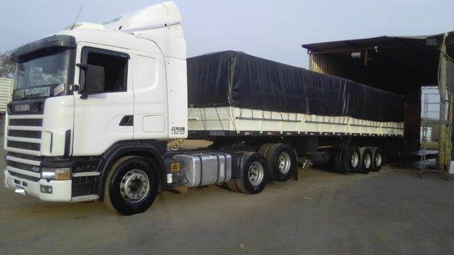 Scania 420 R124 2006 e Carreta Guerra 2001 - Foto 16