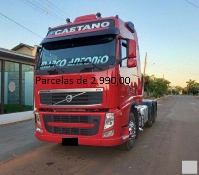 Volvo FH 460 6x2 2015 na Caçamba Rondon Entrada mais Parcelas com Contrato de Serviço. - Foto 2