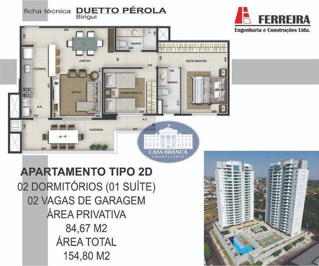 Apartamento com 2 dormitórios , 1 suite à venda, 84 m², lazer completo - Parque das Painei - Foto 11