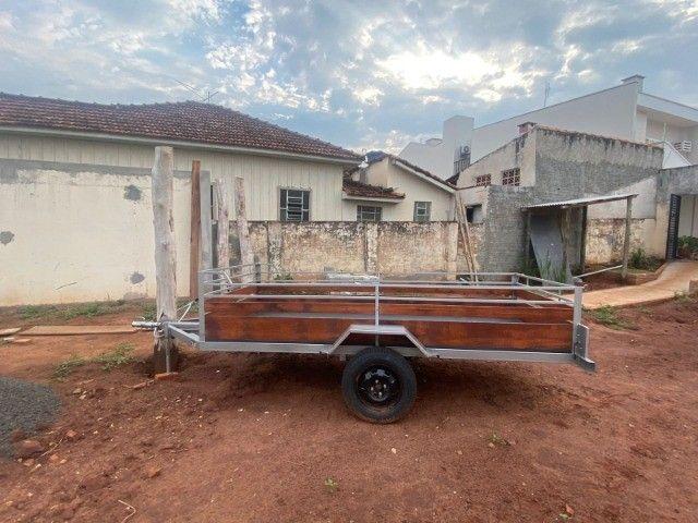 Carreta Reboque 3,00x1,50 - Nova e Documentada e Emplacada 09/2021 - Foto 2