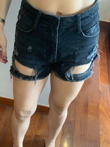 Shorts Jeans Escuro ZARA