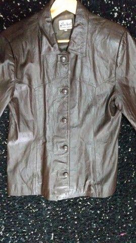 Jaqueta de ouro marrom Tam GG - Foto 2