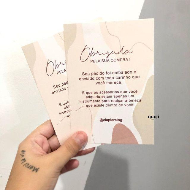 Tag de roupa, cartões de agradecimento, cartão de Visita.  - Foto 2