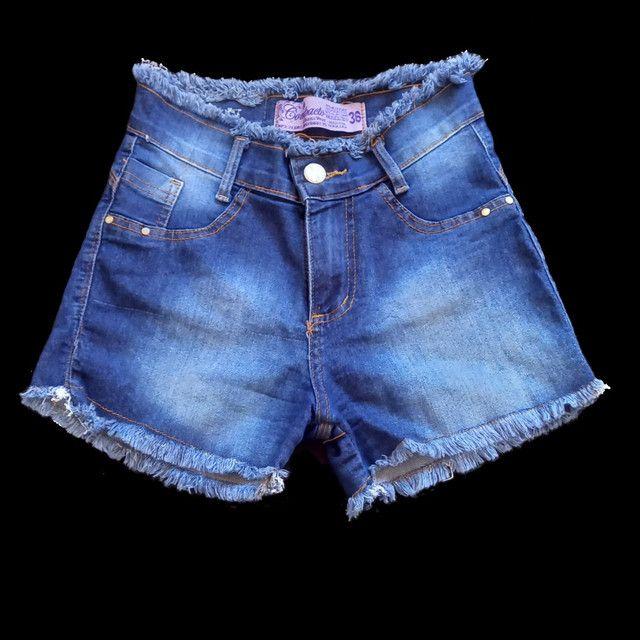 Três shorts jeans cós alto  - Foto 3