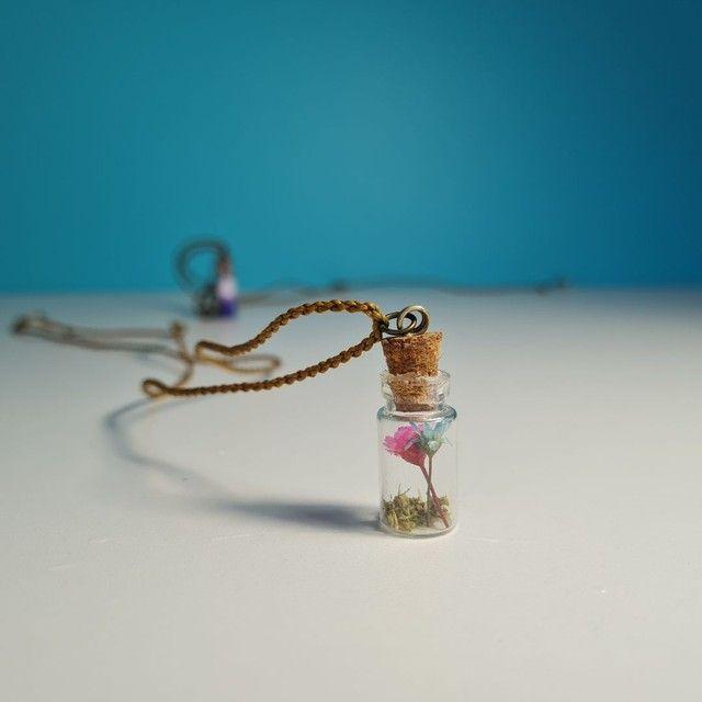 Kit 3 colares hippie artesanais - Foto 4