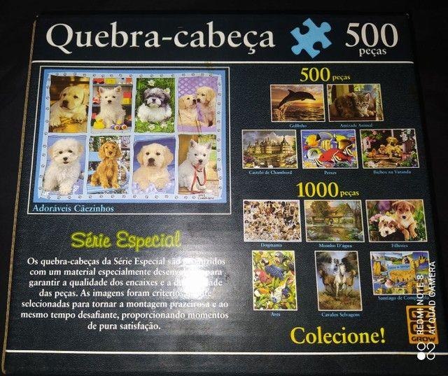 Vendo Quebra Cabeça 500 Peças Grow Original - Foto 2