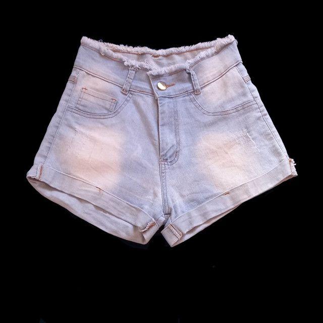 Três shorts jeans cós alto  - Foto 4