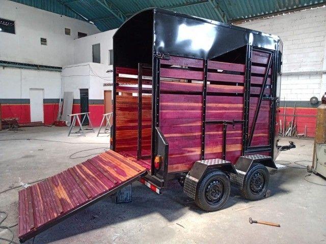 Carreta para 2 cavalos nova R$ 10.500,00 - Foto 2