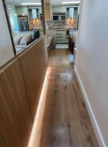 Apartamento Luxuoso Totalmente Mobiliado, 2 Quartos com Suíte em Condomínio Clube - Bairro - Foto 8