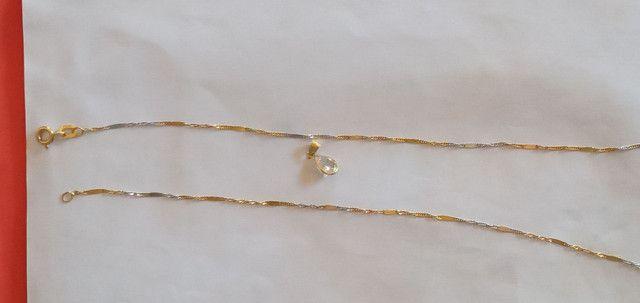 Vendo correntinha de ouro feminina 18k 750 - Foto 2