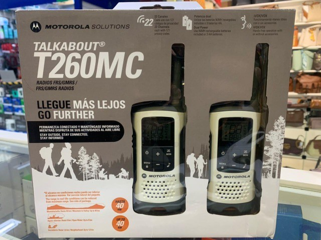 Rádio Comunicador Motorola T260MC 25 Milhas / 40 km Bivolt - Branco / Cinza