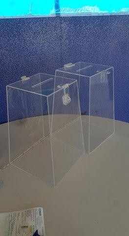 Urnas para cupons acrilico ou PVC - Foto 3