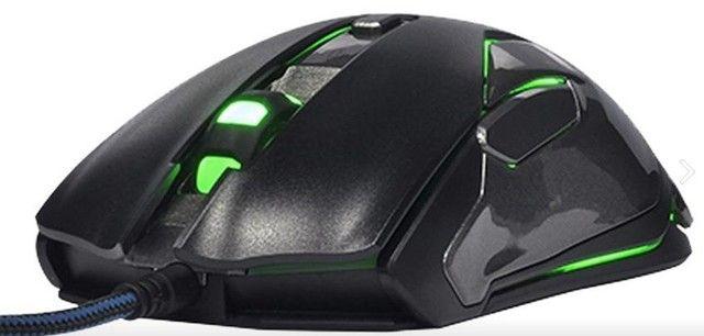 Mouse Gamer Laser 8.200 DPI Rgb Auroza Fps Emp669 nOVO lacrado