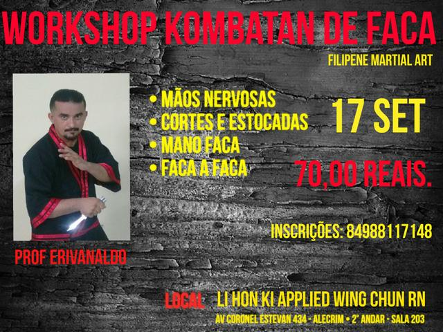 Workshop de Arte Marcial Filipina ( Faca )